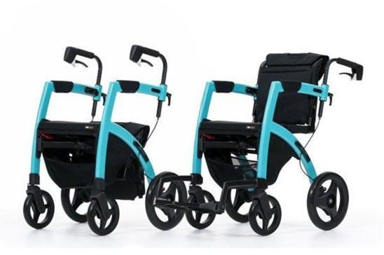 Topro Rollz Motion Rollator und Rollstuhl pebble white