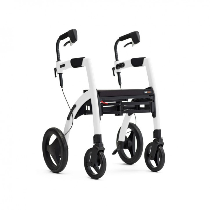 Topro Rollz Motion 2 Rollator und Rollstuhl 2in1 pebble white
