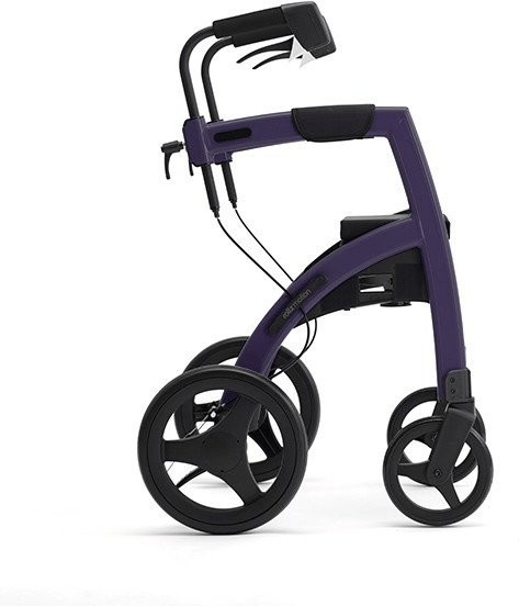 Topro Rollz Motion 2 Rollator und Rollstuhl 2in1 dark purple