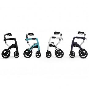 Topro Rollz Motion 2 Rollator und Rollstuhl 2in1 pebble white